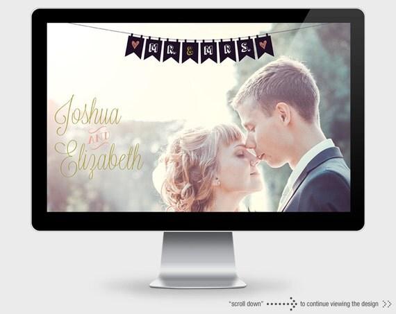 Wedding Website. Wedding Website Template. WordPress Template. RSVP. Feminine Website Template.