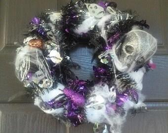 Scary Handmade Halloween Wreath