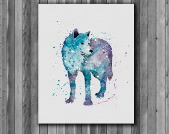 WOLF - Art Print, instant download, Watercolor Print, poster