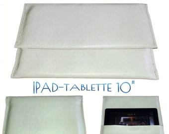 SpecialFilters housse etui pochette  cuir blanc vintage recyclé pour Ipads et TABLETTES 10 pouces