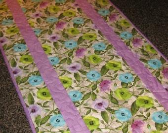 Colorful Spring Poppy Table Runner