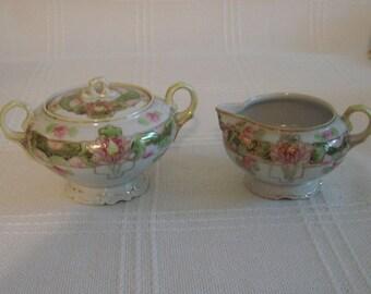 Made in Japan Sugar Bowl and Creamer