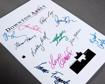 Downton Abbey TV Script with Signatures / Autographs Reprint Unique Gift Christmas Xmas Present Film Movie Fan Geek Mom British English