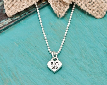 sterling silver Big Sis necklace, Big Sis necklace | Sister necklace