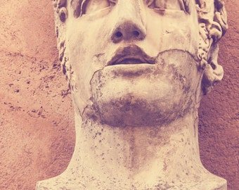Rome italy statues face 20 x 30 print