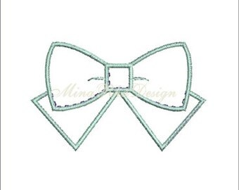 Bow Machine Embroidery Design Bow Applique Instant Download