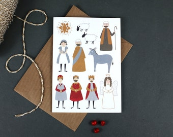 The Nativity - Hand Illustrated Christmas Card