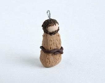 John the Baptist Ornament -- Miniature Polymer Clay Jesse Tree Ornament