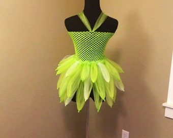 Tutu Length Tinker Bell Inspired Tutu Dress