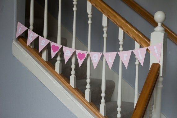It's a girl! Banner, Baby Shower, Baby Sprinkle, girl baby, gender reveal