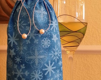 Gourmet Wine Bag-Winter Collection (Blue Snowflake)