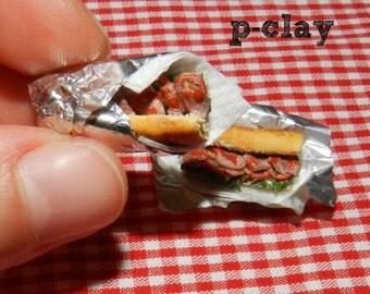 2 Miniature Sandwiches (1/12). Snacks, sandwich, lunch, luncheon, butty, bread.