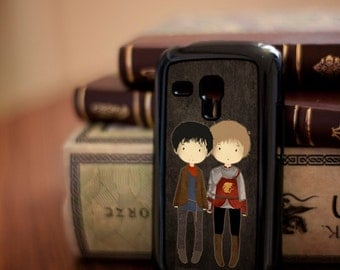 MERLIN / cute Merlin and Arthur phone / tablet case