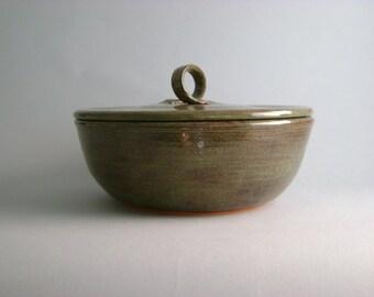 Green Earthenware Casserole