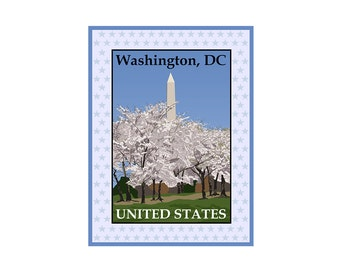 Giclee Print: Washington, DC National Monument