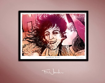 keith richards - poster, by Fred Jourdain