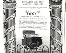 1800s Locomobile Horseless Carriage Transportation Advertisement Ad Harper's Weekly Original 1890s Auto