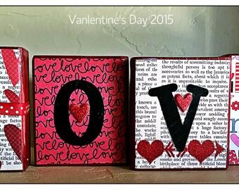 Decorative Valentine Wood Block set!