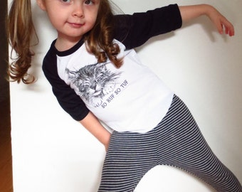 Kids Kitty Cat Raglan T-Shirt