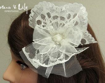 Bridal Hair Accessory, Cream Ivory, Hair Clip, Wedding Headpiece,