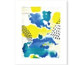 """Spring Rain - 8x10"""" modern watercolor PDF"""