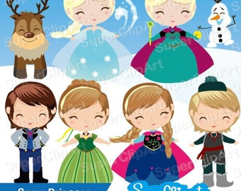 Snow Princess Clipart