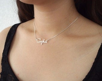 SALE Personalized Name Necklace - Dainty Name Necklace - Tiny Name Charm - Any font Available - Bridesmaid Gift -  MOTHER GIFT