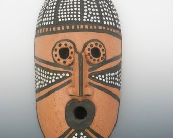African Unglazed Hanging Masks
