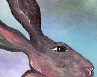 The December Hare-A6 postcard