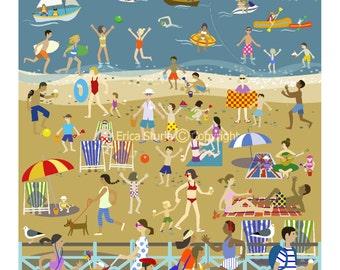 Brighton Beach -  Ltd Edition Mounted Print
