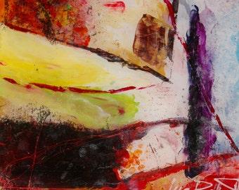 Firewall, Modern abstract acrylic painting on plexiglass