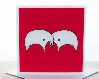 Greetings card - 'Elephants in Love' card