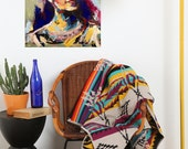 Frida Kahlo - 55x45 cm Acrilyc on wood