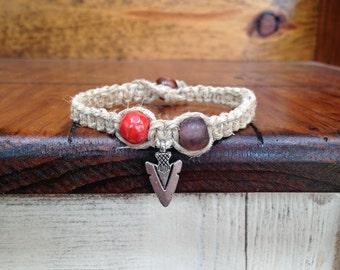 Arrowhead hemp bracelet