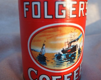 Vintage Folger's Coffee Can Puzzle Unopened