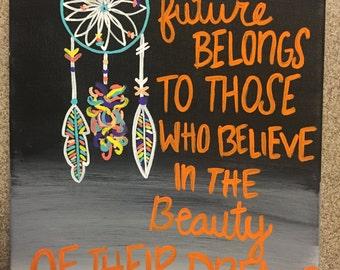 Inspirational Eleanor Roosevelt Quote Canvas