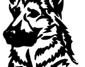 Customizable German Shepard Vinyl car decal, german shepard bumper sticker German shepard decal, dog decal, dog sticker