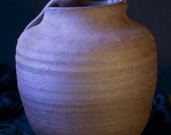 Stoneware Vase with a Creature