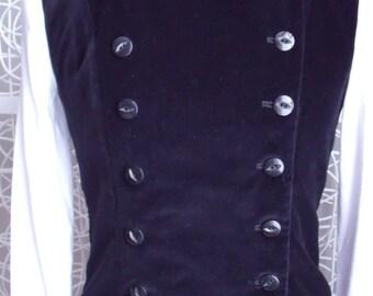 Women's Black Velvet Waistcoat