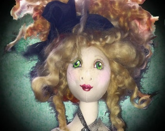 SOLD TO JORDAN. Handmade, Darling Doll to delight you or someone you love.