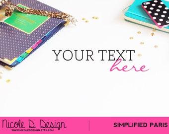 Simplified Paris - Stock Photography - Bright Bold Colors Fun Design