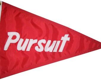 "Custom Boat Name Pennant: 12""x18"" High Quality Flag Handsewn Appliqued Nautical Flag"