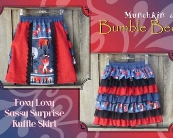 Foxy Loxy Sassy Surprise Ruffle Skirt - Size 7 girls