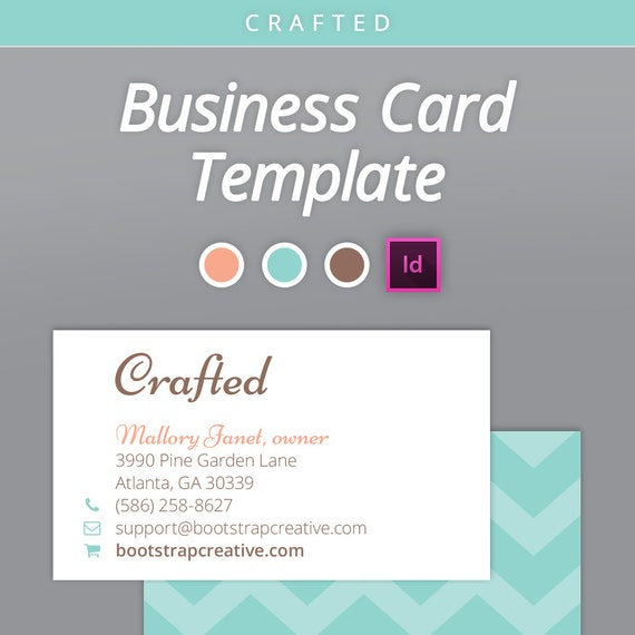 items similar to business card download business cards chevron indesign template on etsy. Black Bedroom Furniture Sets. Home Design Ideas
