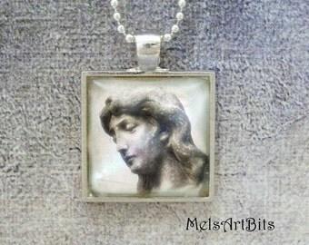 Guardian Angel Cemetery Spiritual Religious Inspiration Faith Photo Pendant Necklace Jewelry