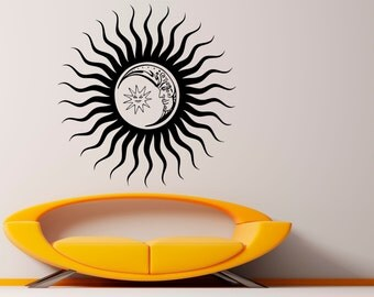 Sun Wall Decal Vinyl Sticker Interior Home Ethical Stars Symbol Decor Vinyl Art Wall Decor Bedroom (8suns)