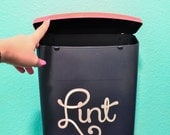 Lint Label for Laundry Room Bin