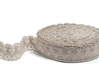 Natural Linen Lace - Pure Linen Lace Trim