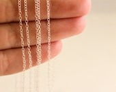 10 Feet - Sterling Silver Chain - 1.3mm Round Cable Chain - Thin Chain - Delicate Chain - Silver Chain - Wholesale Chain Custom Length .925