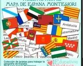 PDF con tarjetas y fichas para trabajar la geografía de España -español-